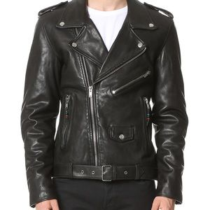 BLK DNM 'Leather Jacket 5' Large NEW